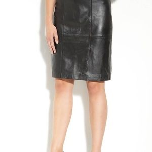 Classiques Entier Leather Pencil Skirt